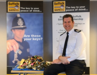 Chief Constable with keys
