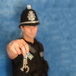 Officer with keys